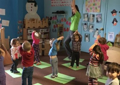 Children doing exercises
