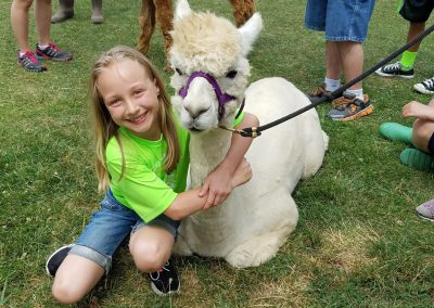 Girl with a lama