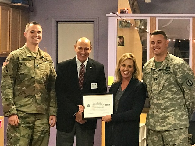 Patriot Award by the U.S. Military